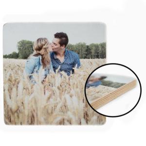 5 x 5 cm foto op houtblok