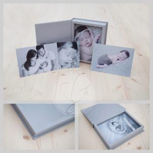 5x5 cm fotobox linnen