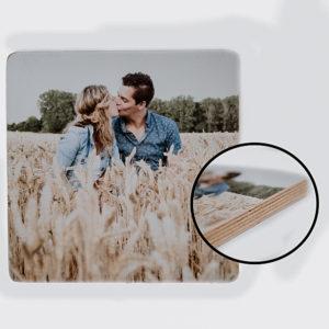 5 x 5 cm foto op houtblok_