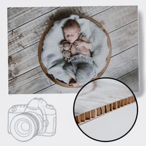 5 x 5 cm foto op karton